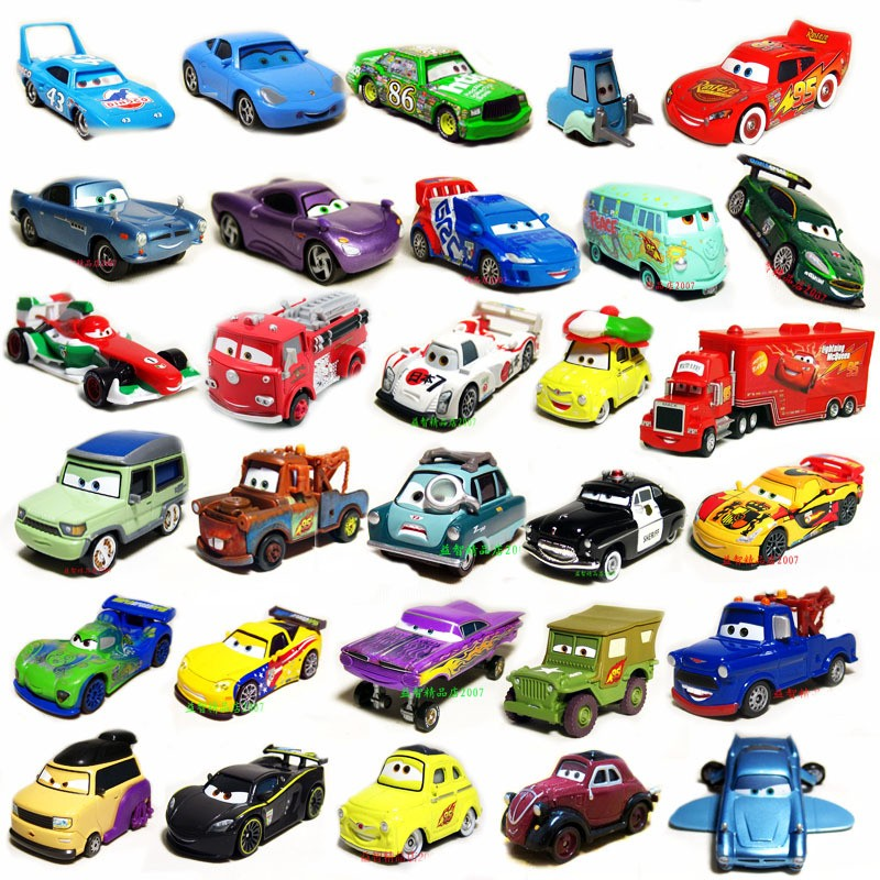 New Disney Pixar Diecast Cars1 Cars 2 Toy Loose Metal Car