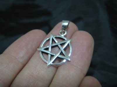 925 sterling silver wicca inverted pentagram pendant necklace this is a really cool 925 sterling silver pentagram pendant from thailand the pentagram is inverted stamped 925 i am including a nice hand woven cord aloadofball Choice Image