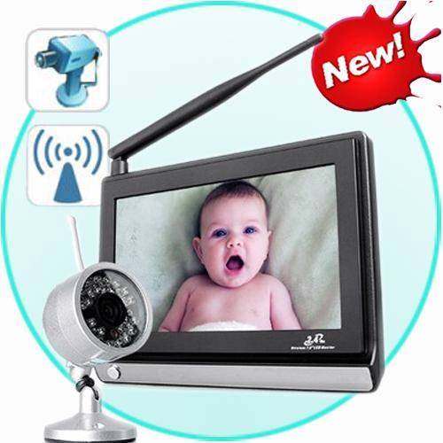 funk kamera mit 7 4 kanal monitor berwachungskamera baby monitor camera ebay. Black Bedroom Furniture Sets. Home Design Ideas