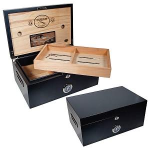 New Cuban Crafters Murcielago 150 Cigar Count Black Matte Humidor