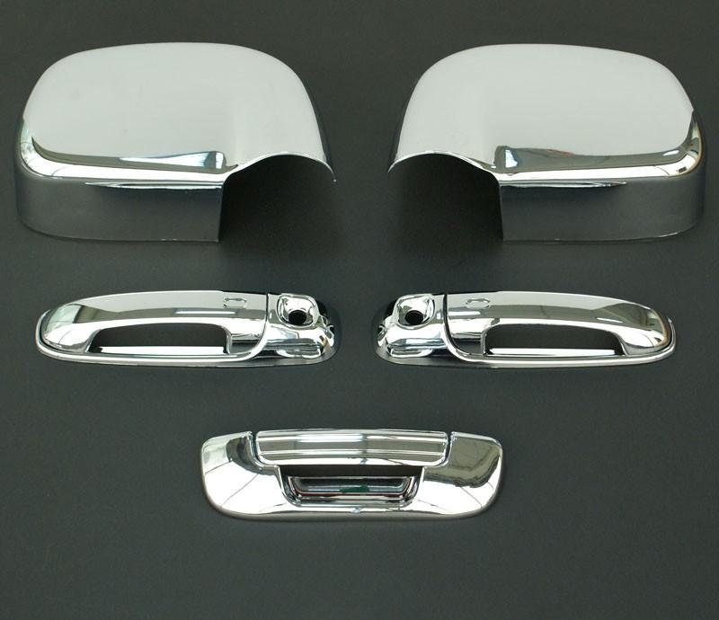 2002 2008 Dodge RAM 3D Chrome Door Handle Mirror Tailgate