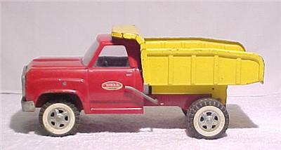 Vintage 1960's Tonka Red Yellow Pressed Steel Dump Truck L K