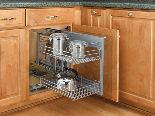 REV-A-SHELF NON-HANDED PULLOUT WIRE PULL-SLIDE-PULL BLIND