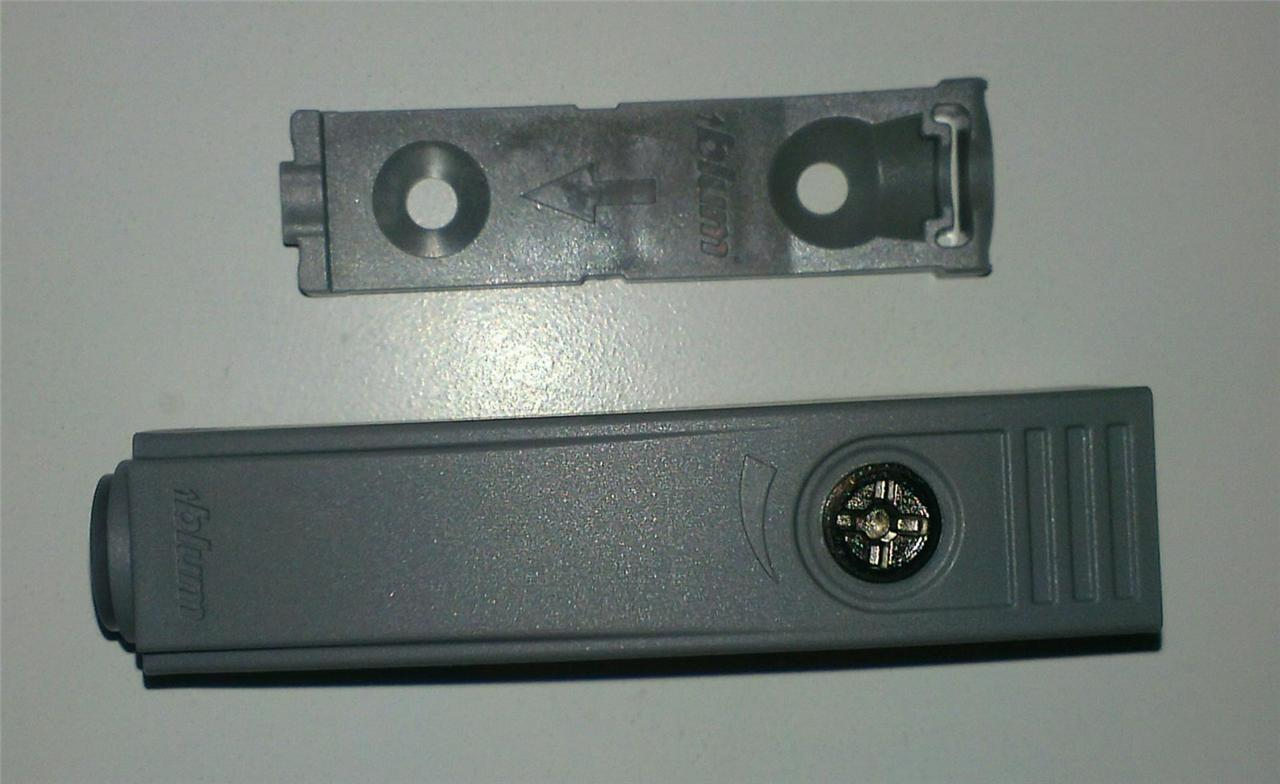 Blum 955 1201 Tip On In Line Adapter Plate Gray Ebay