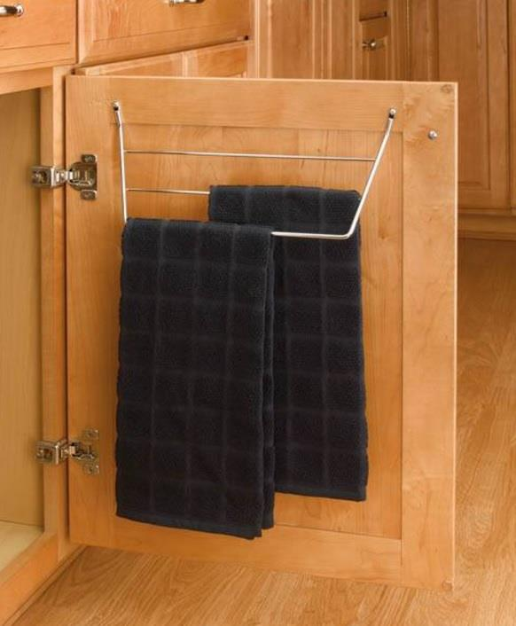 Inside Kitchen Cabinet Door Screw In Towel Rack