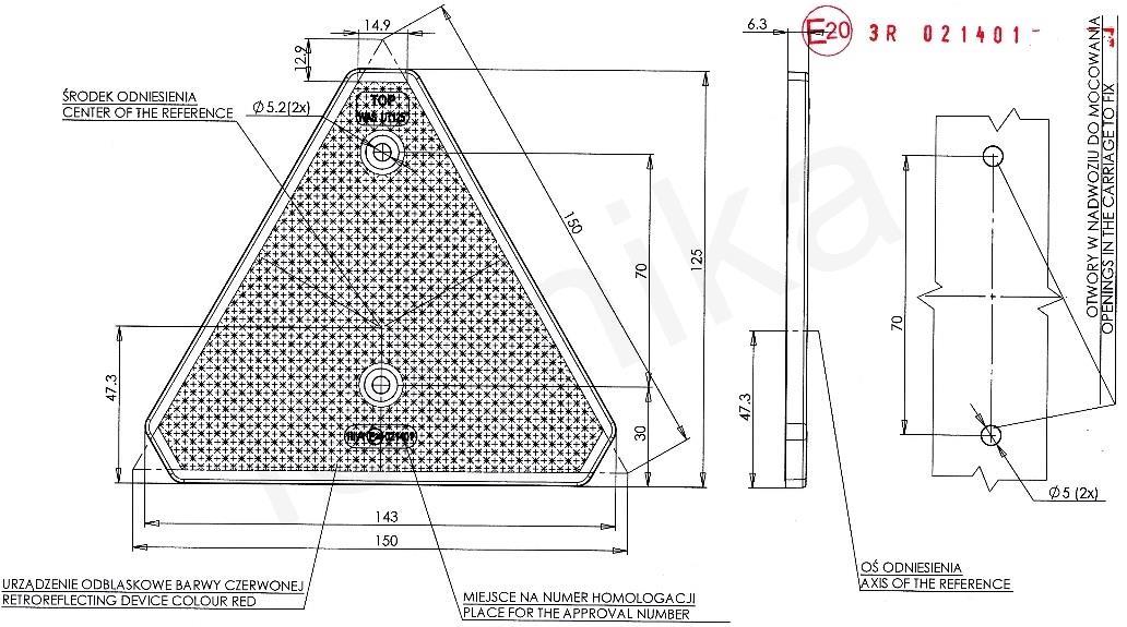 ORANGE AMBER REFLECTOR TRAILER TRUCK CARAVAN TRIKE 90MM X 30MM WITH BOLT FIXING