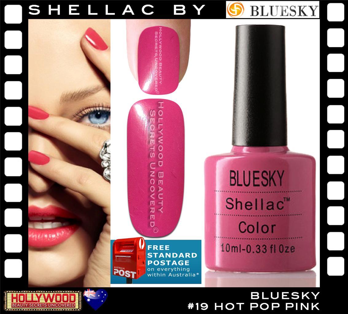 Bluesky Shellac Uv Gel Nail Polish 10ml Hot Pop Pink 40519 1 Oz Seller Ebay