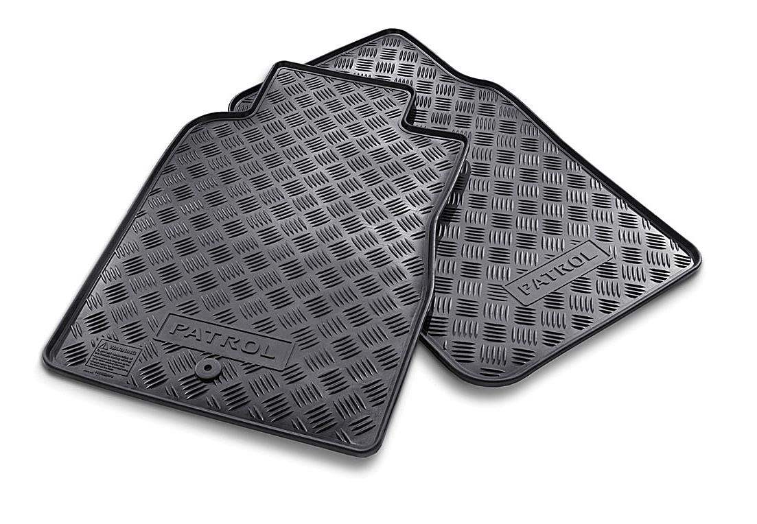 New Genuine Nissan Patrol Rubber Floor Mats Front Part Vcfr Ebay