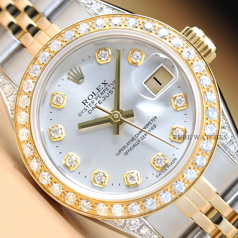 97dfbe5e1c66 Se trata de un reloj Rolex auténtico con un Rolex original 14k oro amarillo  y pulsera jubilee de acero inoxidable