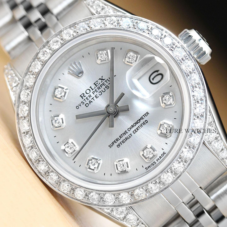 42d694808e28 Rolex Diamante Mujer Datejust Quickset 18K Oro Blanco y Acero ...
