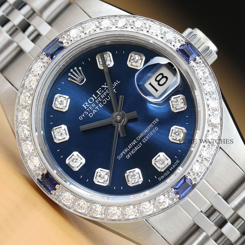 bfbf658747d2 Se trata de un reloj Rolex auténtico con una banda de Jubileo de Rolex  acero inoxidable