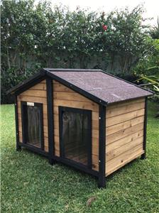 Dog Kennel Somerzby Double Outdoor Wooden Pet House The