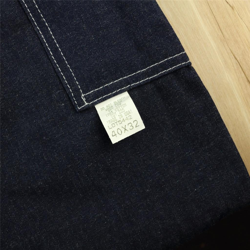 Details about NEW w/tags nwt usa made CABOOSE denim big overalls 40 x 32  dark blue vtg