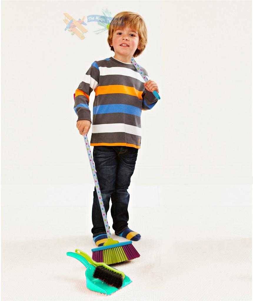 New Childrens Kids Cleaning Sweeping Play Set Mop Broom