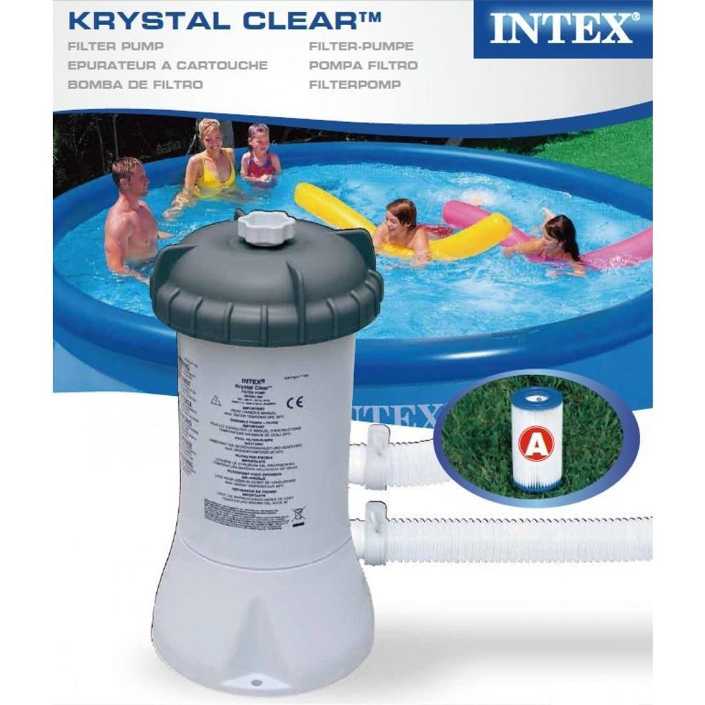 Intex Krystal Clear Swimming Pool Filter Pump Amp Cartridge