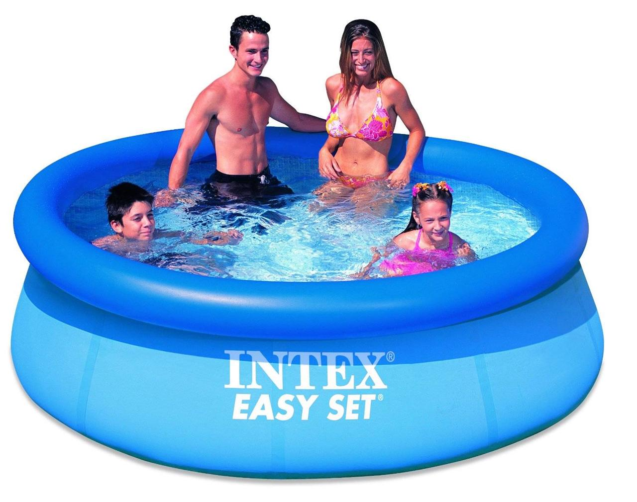 Intex Easy Set Inflatable Swimming Paddling Pool 6 8 10