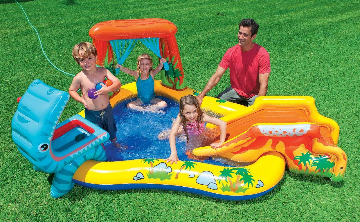 Intex Inflatable Family Outdoor Swimming Paddling Pool