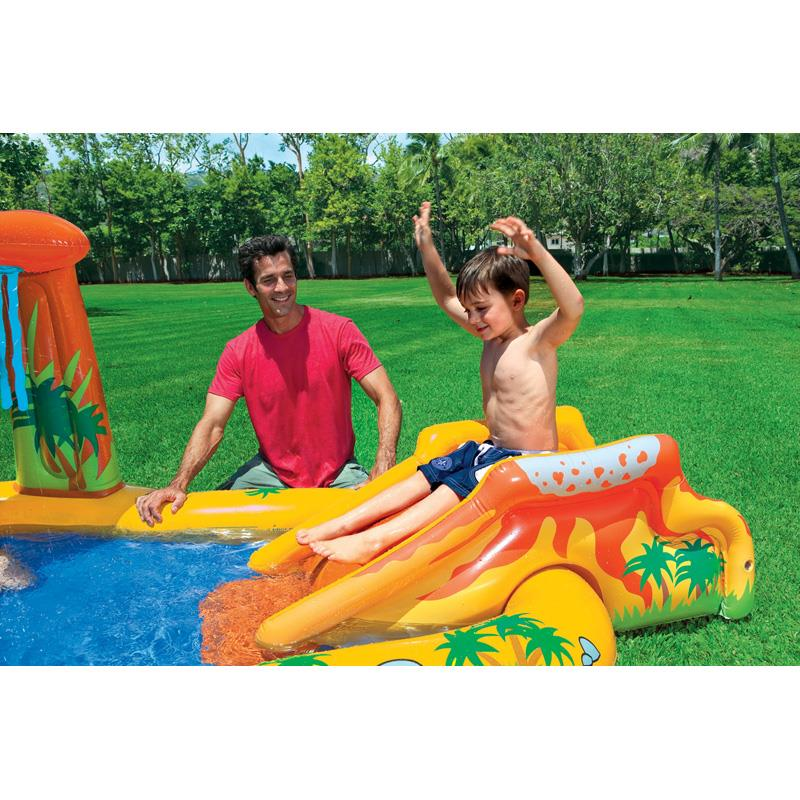 Inflatable Pool Slide Uk: Intex Dinosaur Play Center Childs Inflatable Paddling Pool