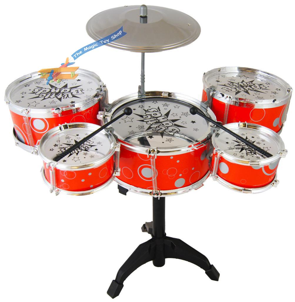 kids my first drum kit play set drums cymbal musical toy instrument pedal stool. Black Bedroom Furniture Sets. Home Design Ideas