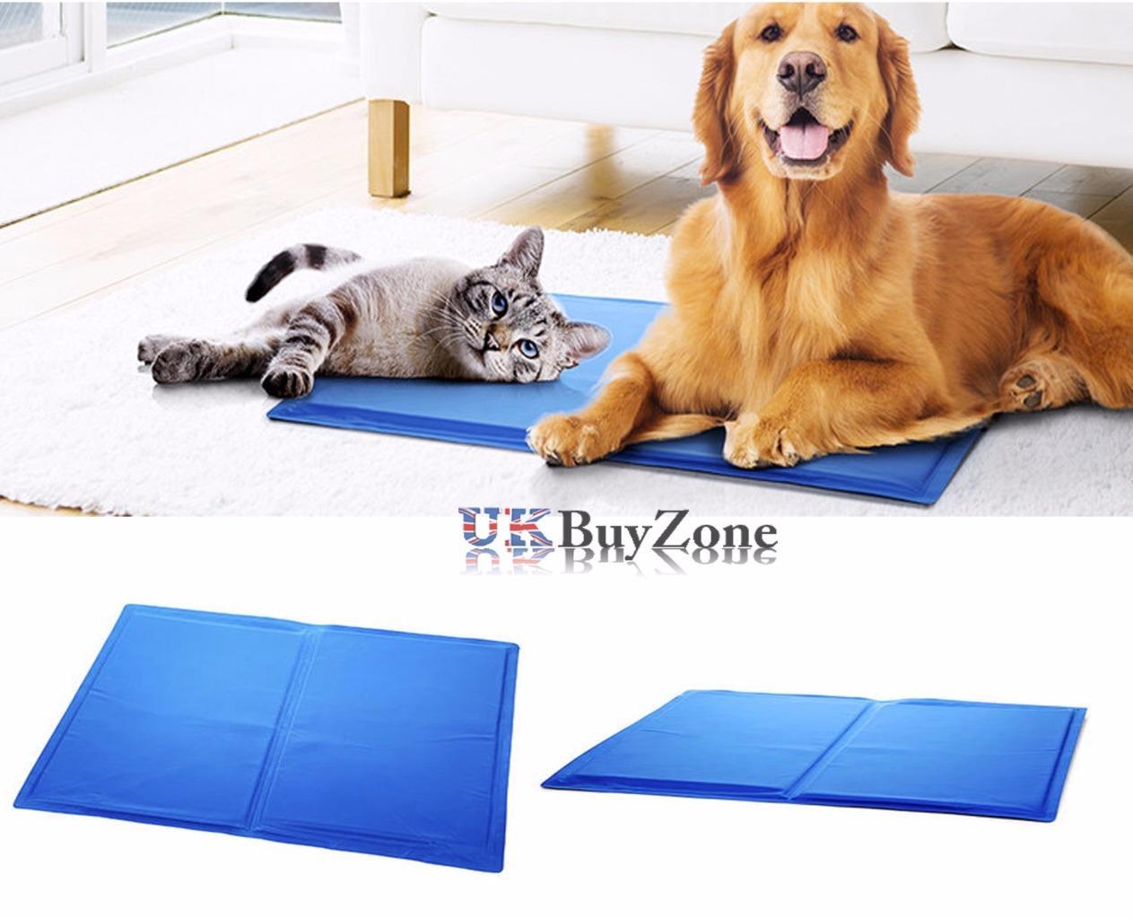 Pet Dog Cat Cooling Mat Cool Gel Mat Bed Mattress Heat