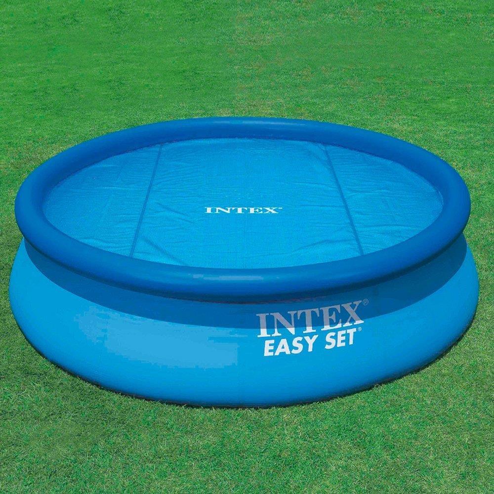 intex solar pool cover for 12 ft frame or easy set pools. Black Bedroom Furniture Sets. Home Design Ideas