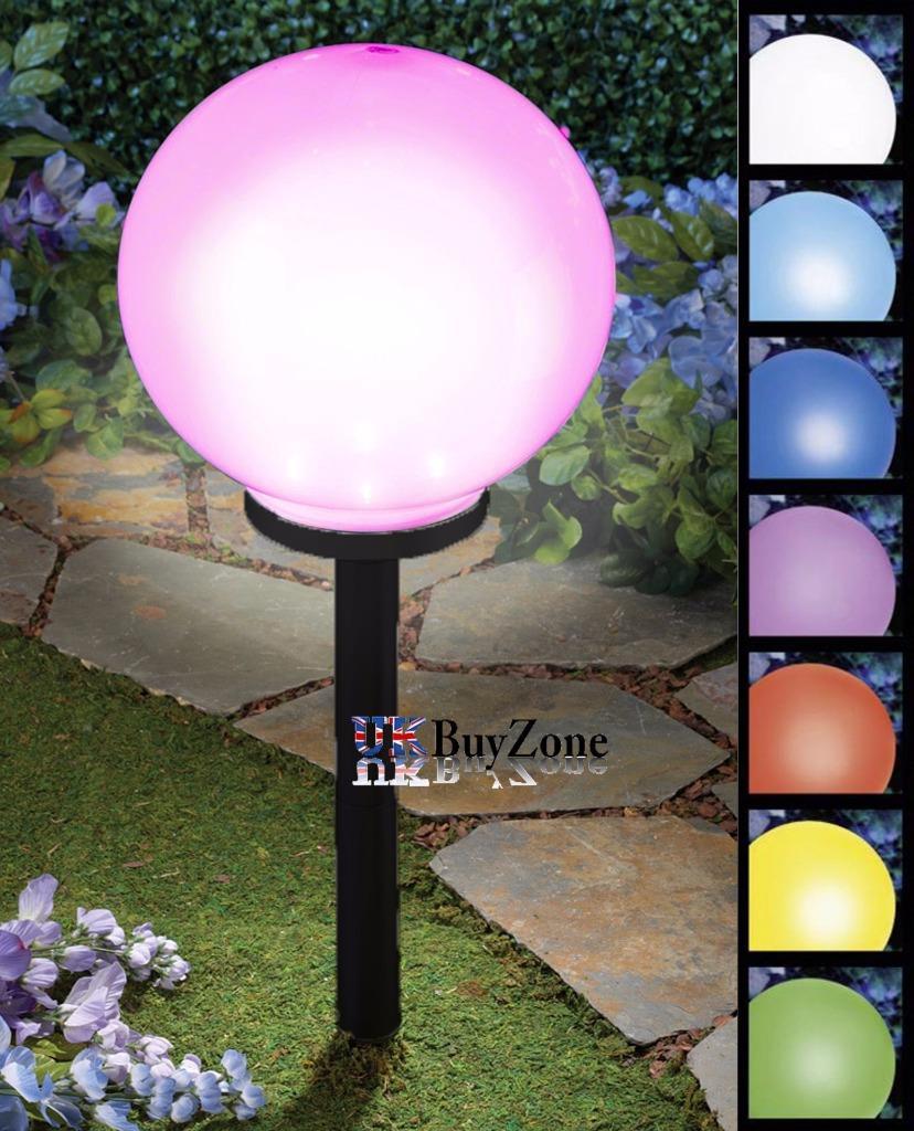 25 cm jumbo g ant led changement de couleur lampe - Lampe solaire jardin couleur changeante ...