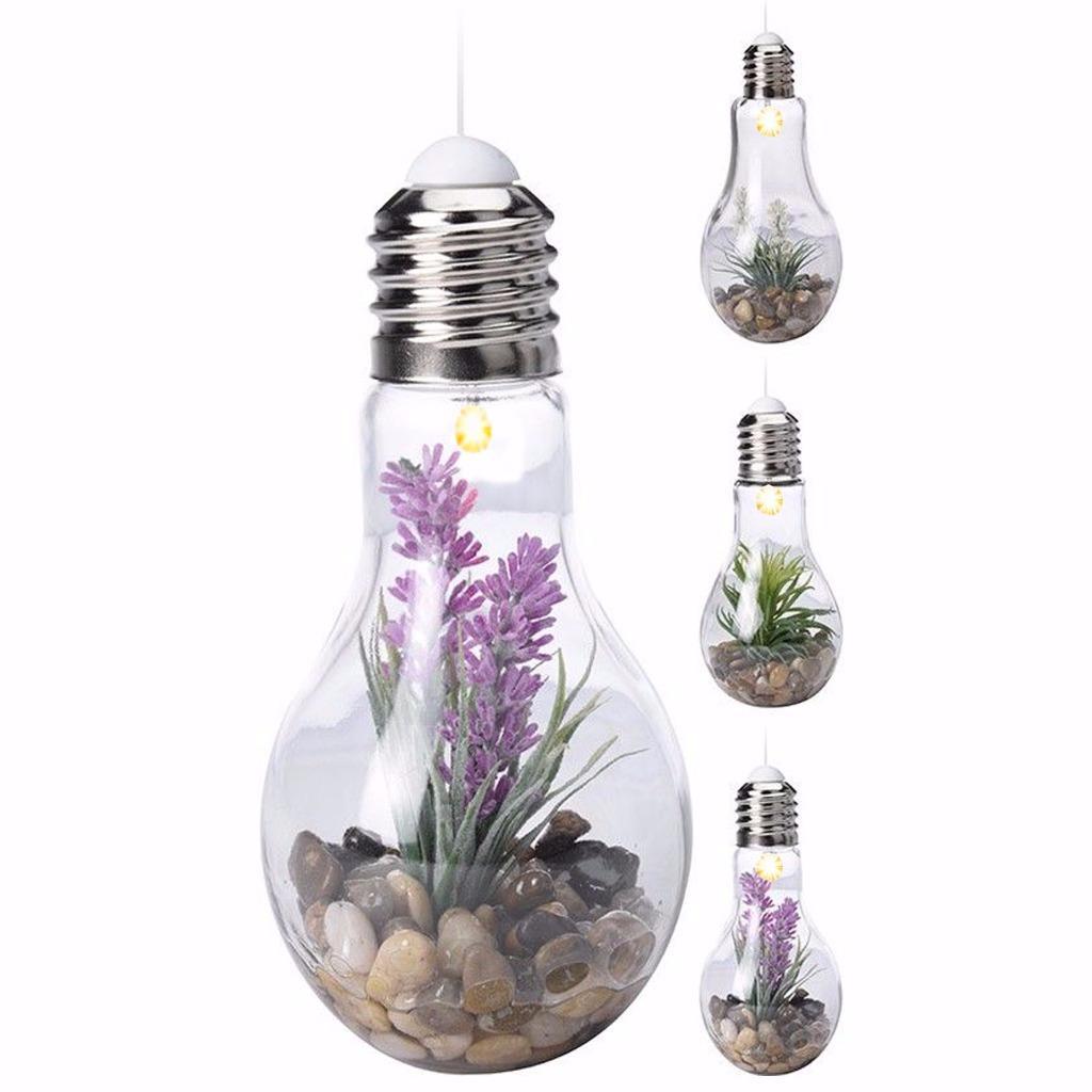 gro led dekorativ gl hbirne glas terrarium glas vase. Black Bedroom Furniture Sets. Home Design Ideas