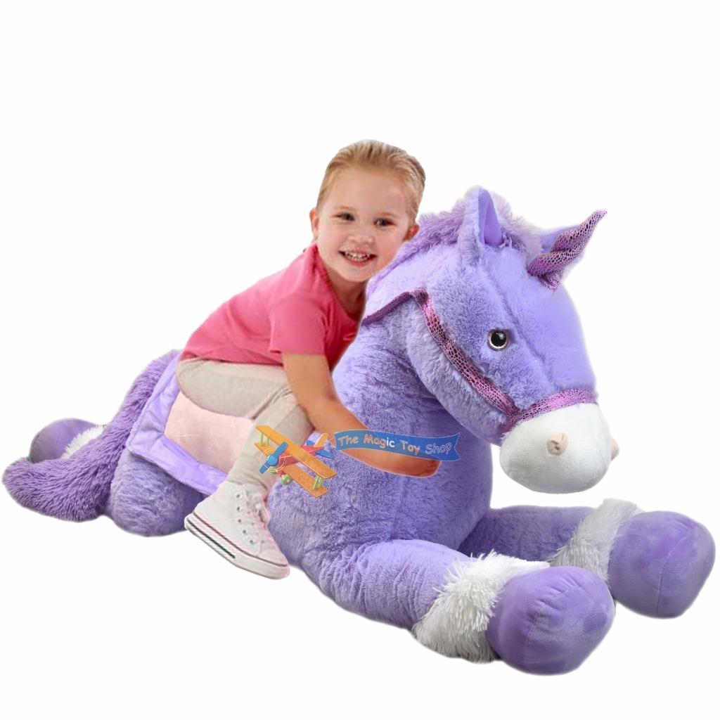 50 xl riese pl sch einhorn gro es pl schtier liegend pferd pony teddyb r ebay. Black Bedroom Furniture Sets. Home Design Ideas