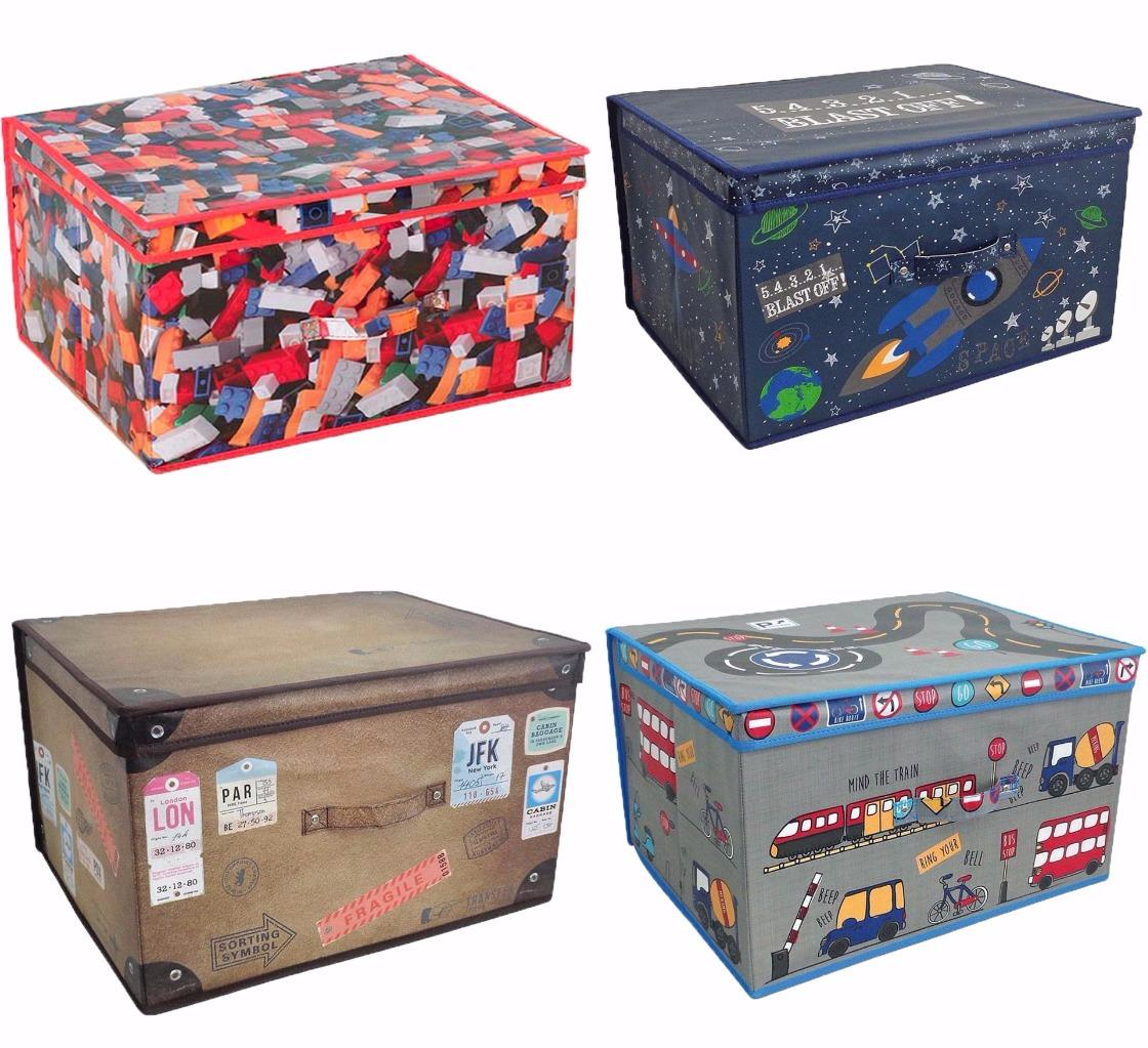 Childrens Jumbo Bedroom Room Tidy Toy Storage Chest Box Trunk: Large Collapsible Jumbo Storage Box Folding Storage Chest