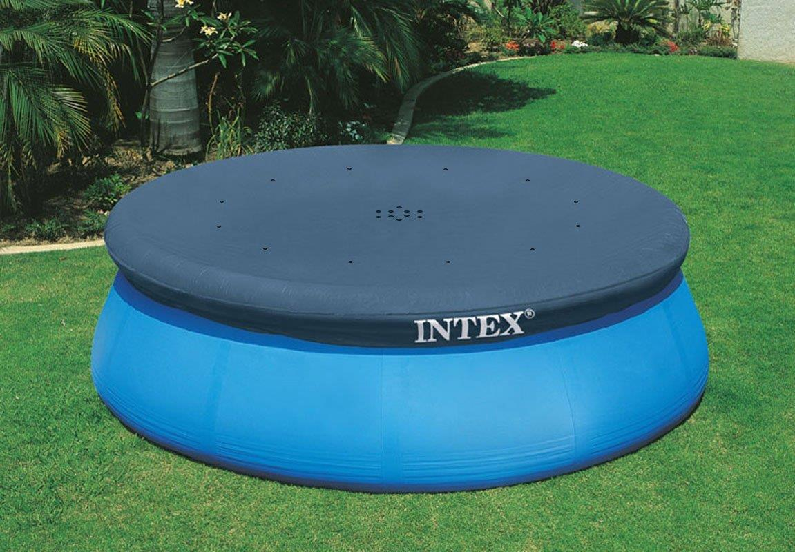 Intex 12 Ft Pool Cover With Rope Ties