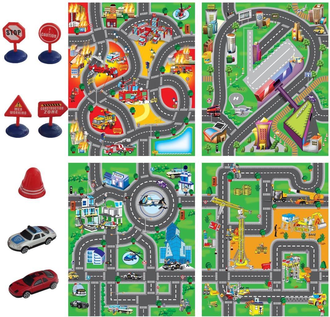 pour enfant voiture route ville circuit tapis de jeu cadeau jouet avec ebay. Black Bedroom Furniture Sets. Home Design Ideas