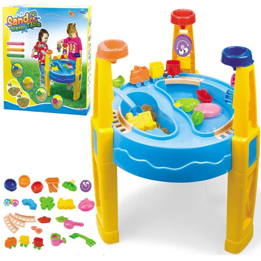 Sand and Water Table Garden Sandpit Play Set Toy with ...