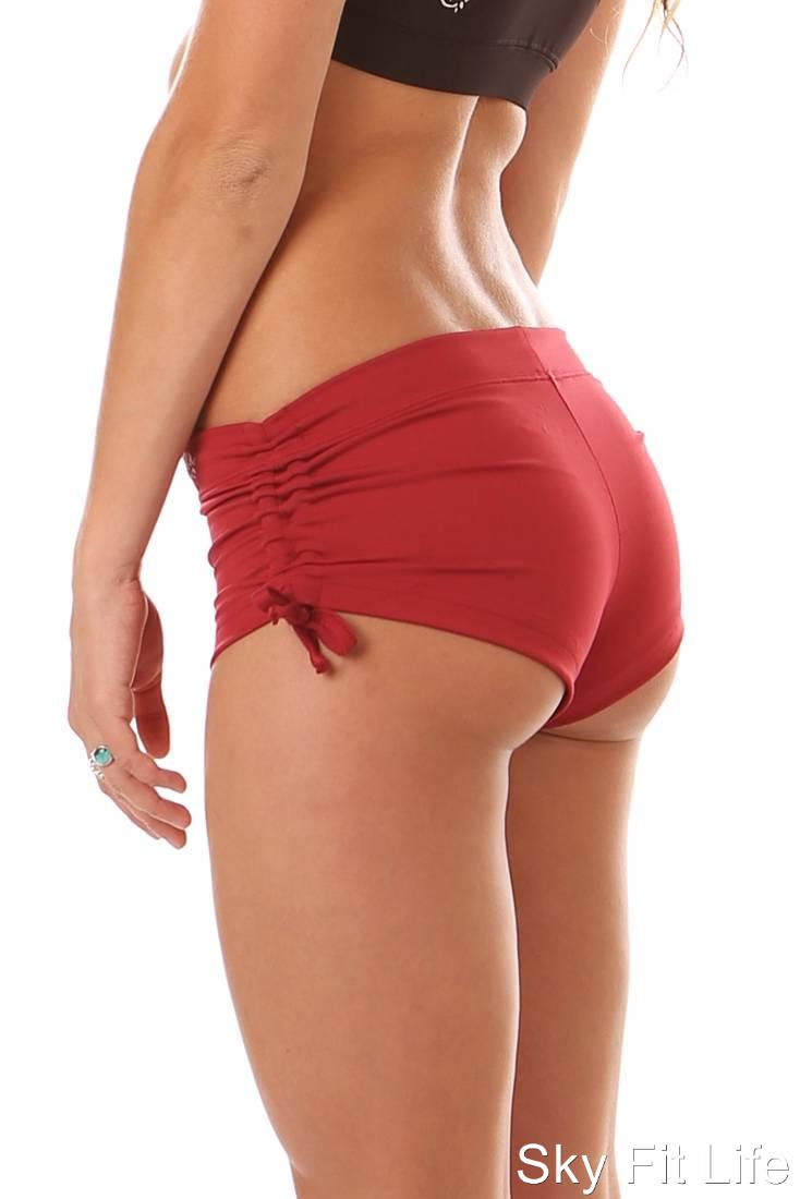 NIKE PRO WOMENS DRI FIT BASE LAYER SHORTS RED 518117 611 on
