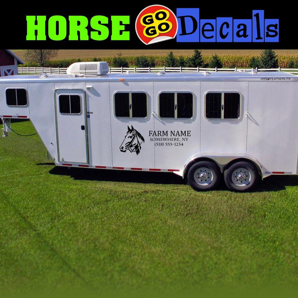 "Horse Trailer Lettering Horse Trailer Farm Decals Farm Truck Name 48"" x 20"""