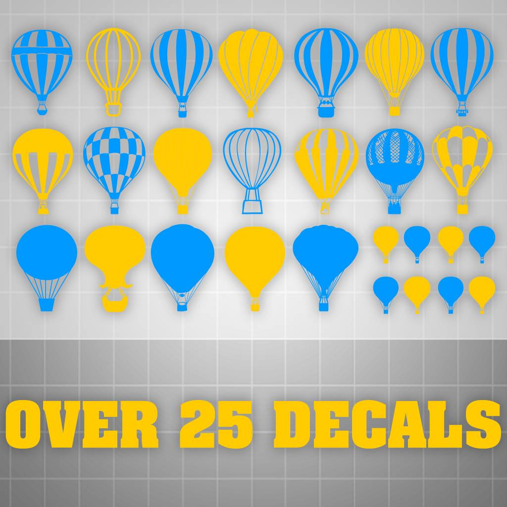 Balloon Wall Decalshot Air Balloon Stickerskids Room Decor 25