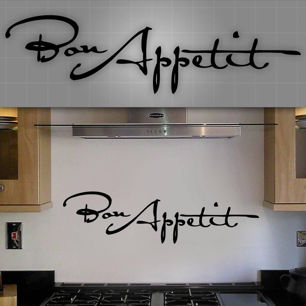 Details about Bon Appetit Wall Decal, Bon Appetit Sticker, Kitchen Wall  Decor - 36\