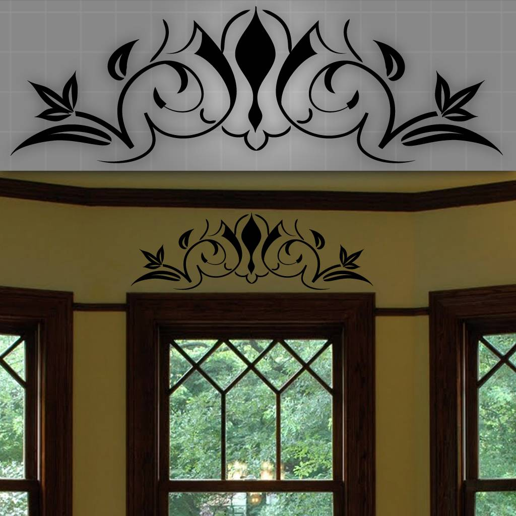Decorative Windows For Homes: Decorative Window Accent Decal, Door Accent Sticker, Wall