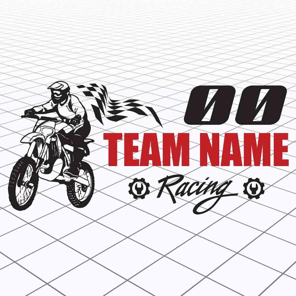 Details about motocross personalized team name custom motocross race sticker package rider