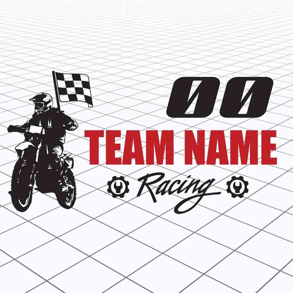 Detalles acerca de personalizado motocross calcomanía adhesivo vinilo motocross raza calcomanía personalizado mostrar título original