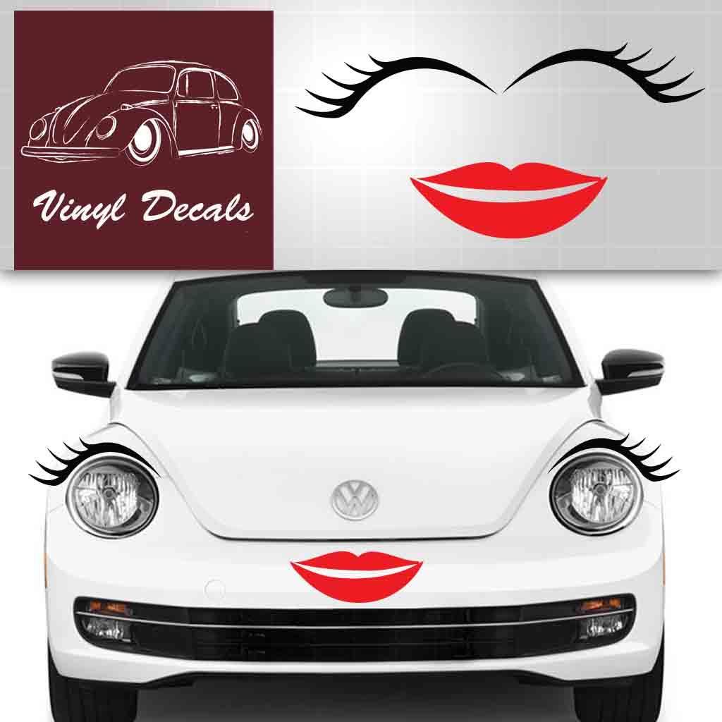 Vwbug Eyelashes Vw Beetle Eyelashes And Lips Volkswagen Eyelashes