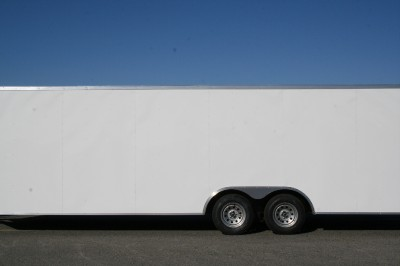 Commercial Duty Enclosed Cargo Trailer Car Hauler, Racing, 8.5 24