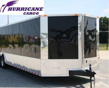 5x28 Enclosed Cargo Auto Car Hauler Race Trailer V Nose Ramp Black
