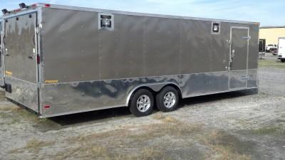 5x24 Pewter Enclosed Cargo Auto Hauler Race Car Racer Trailer 102 x