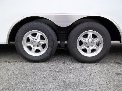5x24 White Enclosed Cargo Auto Hauler Race Car Trailer Flat Front