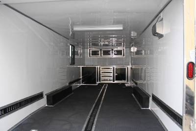 New 8 5x24 Enclosed Cargo Trailer Car Hauler V Nose Auto 24' Motorcycle Covered
