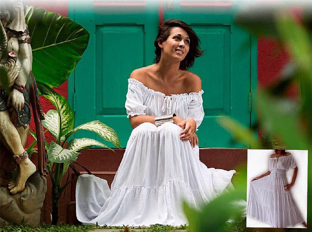 @Z7001 PEASANT DRESS WEDDING BRIDESMAID DRESS MADE TO ...