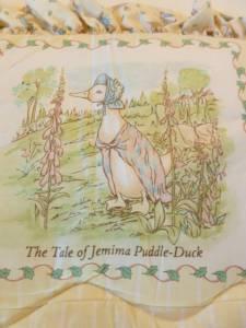 Vintage Beatrix Potter Peter Rabbit Crib Nursery Bedding