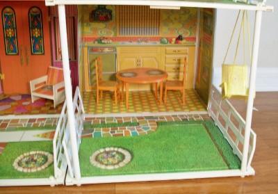 Vintage Mattel 1970 Barbie House Retro Mod Style Two Story