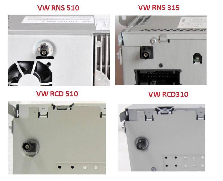 volkswagen dab dab radio antenna aerial vw rns 510 315 rcd 510 310 fakra satnav ebay. Black Bedroom Furniture Sets. Home Design Ideas