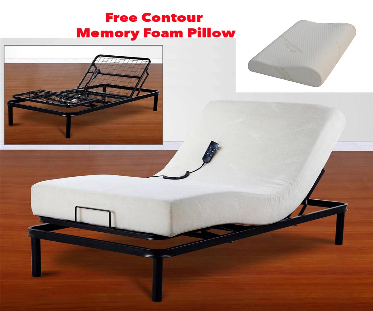 Primo Split King Size Adjustable Bed And Memory Foam